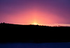 Sunrise over Morse Mountain, Small Point, seen from West Point, Phippsburg, Maine, sky scape, early morning