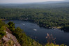 Lake Megunticook from Maiden Cliff, Camden, Maine, summer scenic