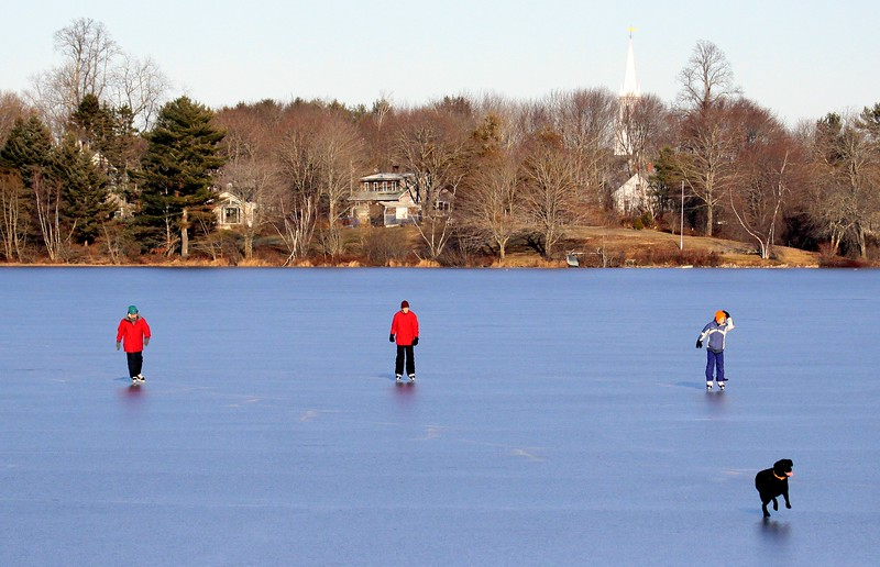 Center Pond Ice Skating, Phippsburg, Maine