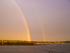Small Point, Phippsburg Maine double rainbow