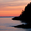 Newberry Point at sunset, Phippsburg Maine, looking south, east side of Westpoint