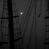 "Full moon rising through schooner rigging, Phippsburg, Maine<br /> For more of this type of image, see the ""Boats"" and ""Marine and Nautical"" galleries"
