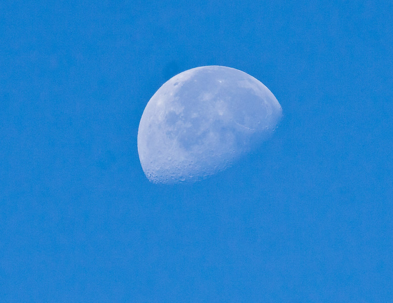 Waning Gibbous Moon, seen from Phippsburg, Maine, evening, July, 2010