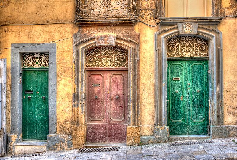 Behind the Green Doors