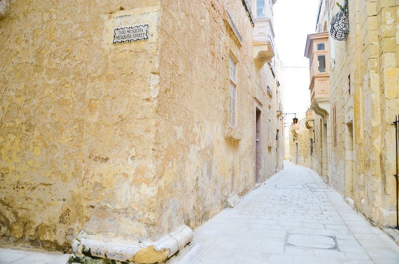Streets of Mdina<br /> <br /> Mdina, Città Vecchia, or Città Notabile, was the old capital of Malta. Mdina is a medieval walled town situated on a hill in the center of the island.