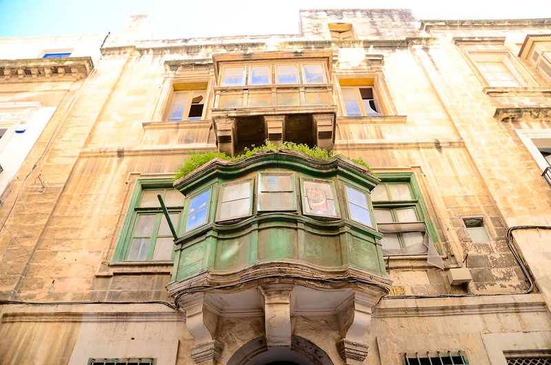 Traditional Oriel Window<br /> Valletta