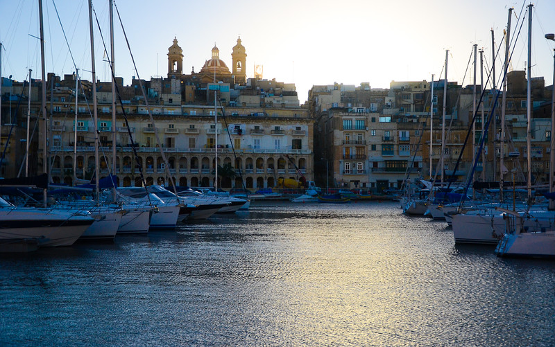 Vittoriosa Yacht Marina at Sunset