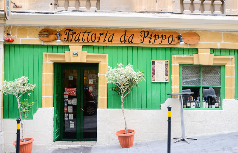 Trattoria da Pippo<br /> Valletta<br /> <br /> (recommended, make reservations ahead)