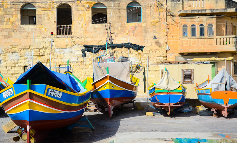 Boats at Rest<br /> Marsaxlokk Fishing Village