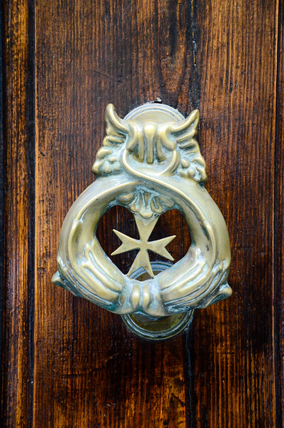 Maltese Cross - Door Knocker<br /> Valletta