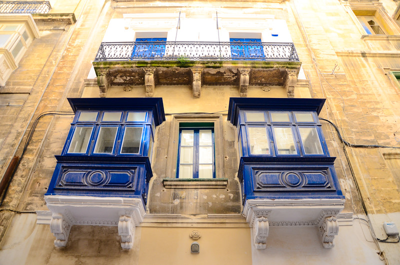 Blue Oriel Windows<br /> Valletta