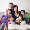 Bonnie Wan, Chip, Ziggy, Ruby, Isla, and Mabel Reese