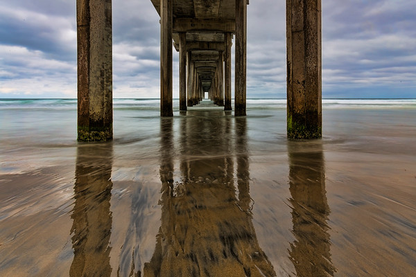 Scripps Pier Reflection