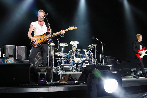 THE POLICE - ( L-R)  STING, STEWART COPELAND AND ANDY SUMMERS