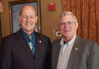 Senate Majority Leader Paul Gazelka and Rockville Mayor Duane Willenbring