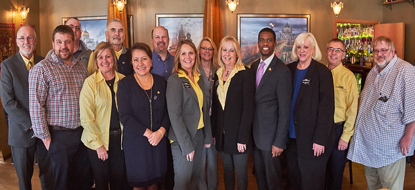 Joel Young, Jonathan Smith, James Joy, Wendy Pederson, Tim Burhardt, Sen. Patricia Torres Ray, John Douville, Tina Rennemo, Shannon Mortenson, Lori Jorgenson, Mayor Melvin Carter, Mary McComber, Jeff Thompson, Jeff Kletscher