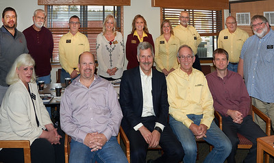 State Sen. Tony Lourey (DFL-Kerrick), seated at center, with MAOSC board members at the Oct. 6 meeting in Moose Lake.