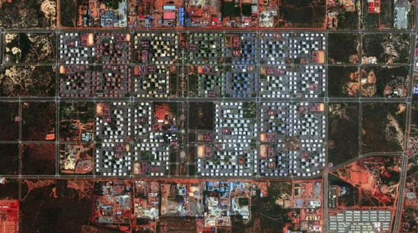 aerial shot of Kilamba City, an urban district in Luanda