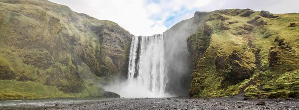 Skógafoss Waterfall 2.30 hrs drive East