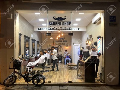 stilish barber shop, Tel Aviv, Israel.