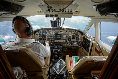 Morten and I Relocating across Sweden in the Kingair B200 2018