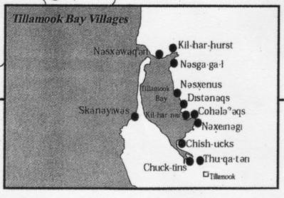 Researchers identified twelve Indian sites along Tillamook Bay.