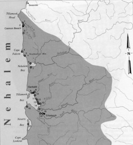 The northern half of Tillamook lands contained many villages between Tillamook Head and Cape Lookout.