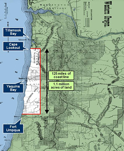 SILETZ RESEREVATION IN 1856  - Federal agents created a reservation for all Indian tribes of the Oregon coast.