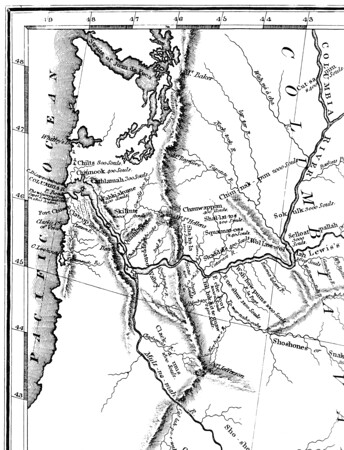 The map of the northwest based on reports by Lewis and Clark showed detail around the mouth of the Columbia, but only a vague idea of territory south of Tillamook head.