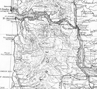By 1881 the geography of the north coast was clearly established. Towns and rivers have locations and names familiar today.