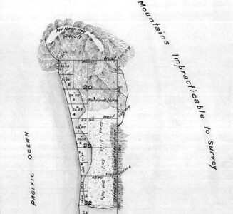 White settlers began arriving around Tillamook Bay in the 1850s. In 1856, the first surveyors mapped the Necarney (Neahkahnie) Mountian and the area known today as Manzanita.