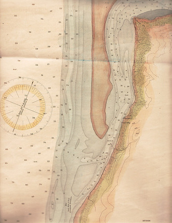 The U S Coast Survey produced this hydrographic map of lower Nehalem Bay in 1891.