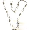 "7-CHN-BRS CO95  BIG AGED RHINESTONES ON BRASS CHAIN  42""  THESE CHAINS ARE VERY POPULAR AND FUN TO WEAR"