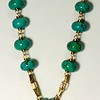7-RM281-TQ CO98  OUR LADY PENDANT WITH RHINESTONE CROWN DANGLE ON VINTAGE CHAIN WITH TURQUOISE MAGNESITE