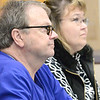 Kevin Harvison | Staff photo<br /> At left, Oklahoma District 17 State Representative Brian Renegar listens during the the monthly Superintendents' Meeting at the Kiamichi Technology Center Friday.