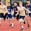 KEVIN HARVISON | Staff photo<br /> Members of the McAlester High School 2 mile relay teams start the first leg of the race during the Glen Stone Relay event at Hook Eales Stadium Thursday.