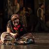 Actor Celeste Lanuza is El Duende in San Diego Opera's MARIA DE BUENOS AIRES, January 2018. Photo by Karli Cadel.