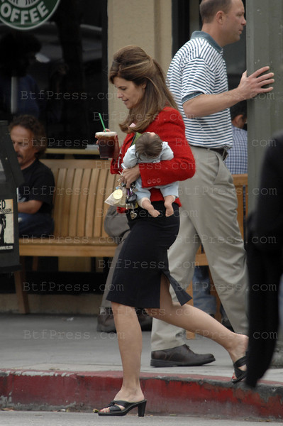 EXCLUSIVE-- Maria Shriver with her Baby Doll in Brentwood California  on October 31, 2008.
