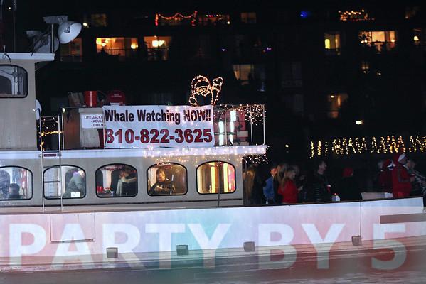 2013 Marina Del Rey Boat Parade viewing at Sheriff's Dock