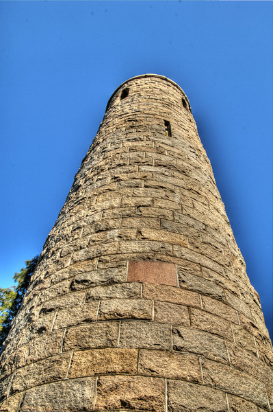 Irish Round tower close compressor HDR