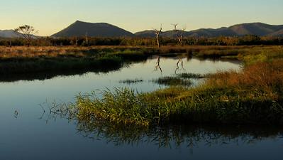 Glen Isla, at Proserpine, at sunset.