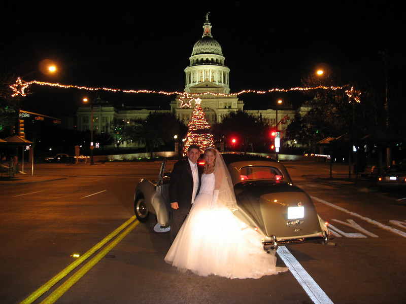 Austin December 30, 2006.  Marque's favorite shot.  Stopped in the middle of Congress St in downtown Austin at 7:30 PM with Jacob & Sarah