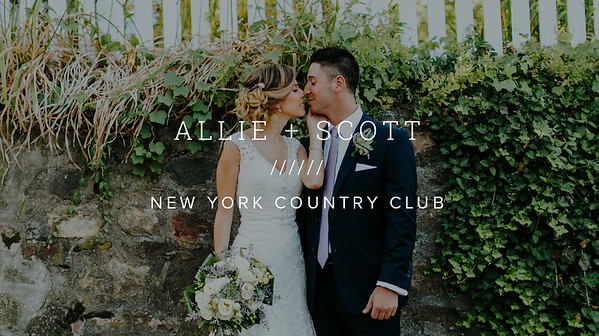 ALLIE + SCOTT ////// NEW YORK COUNTRY CLUB