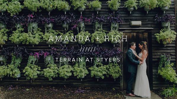 AMANDA + RICH ////// TERRAIN AT STYERS