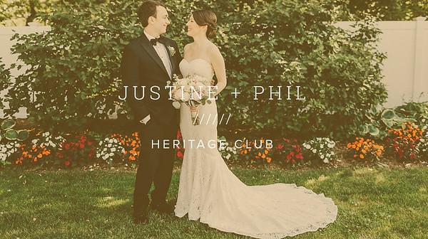 JUSTINE + PHIL ////// HERITAGE CLUB
