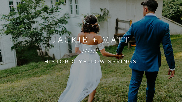 JACKIE + MATT ////// HISTORIC YELLOW SPRINGS