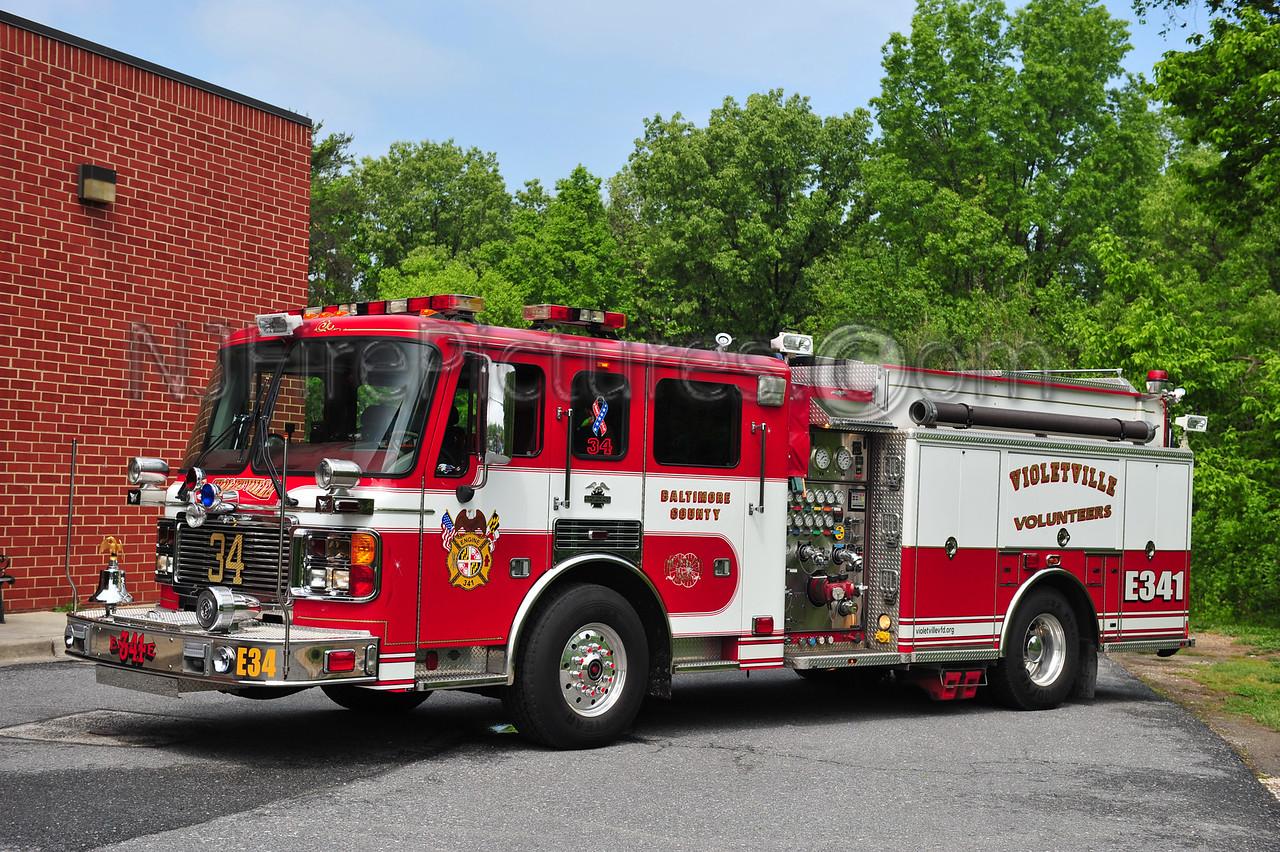 VIOLETVILLE, MD ENGINE 341 - 2001 AMERICAN LAFRANCE 1500/750/50