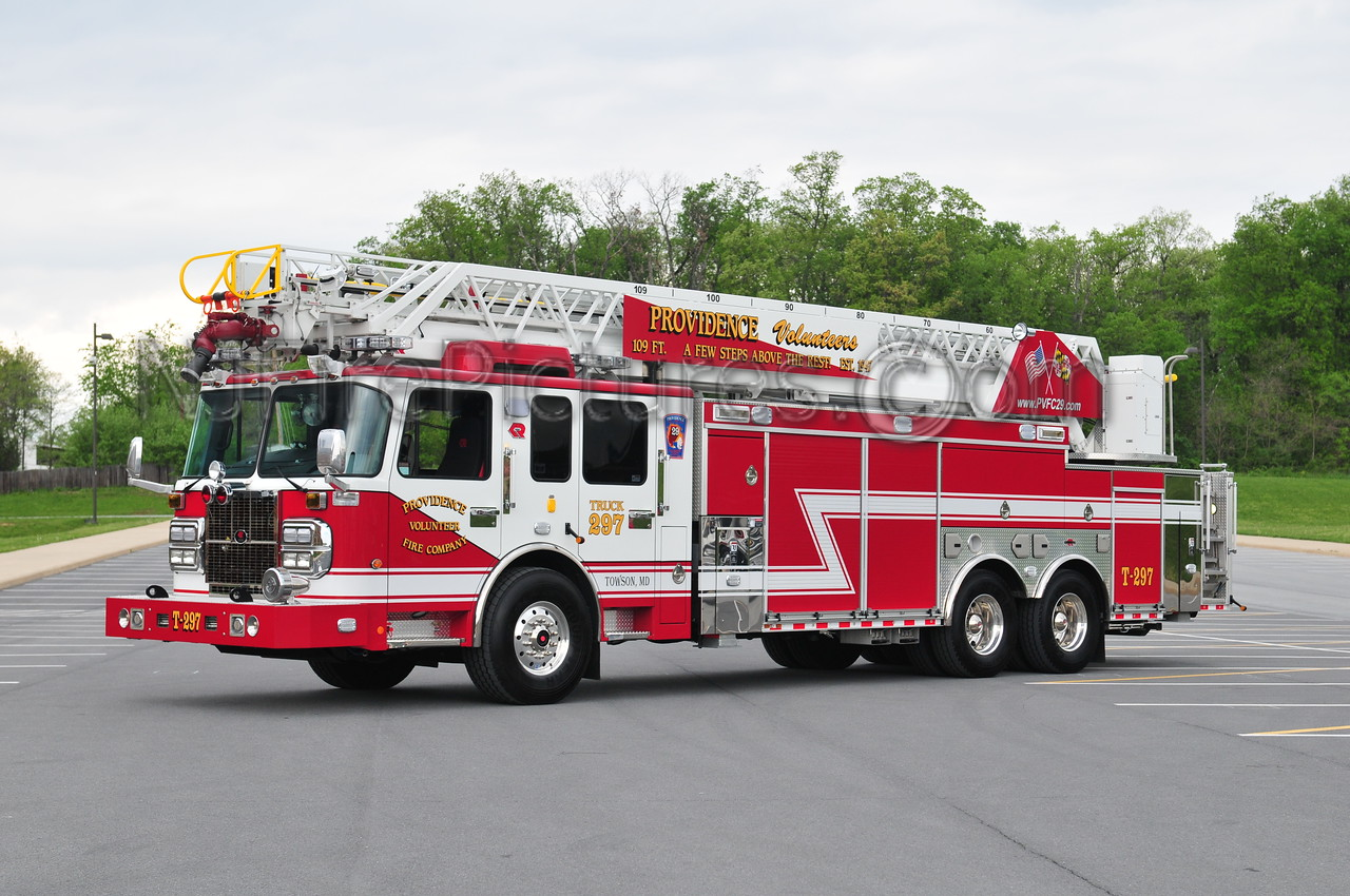 TOWSON, MD (PROVIDENCE VOLUNTEERS) TRUCK 297 - 2011 SPARTAN/ROSENBAUER 109' VIPER