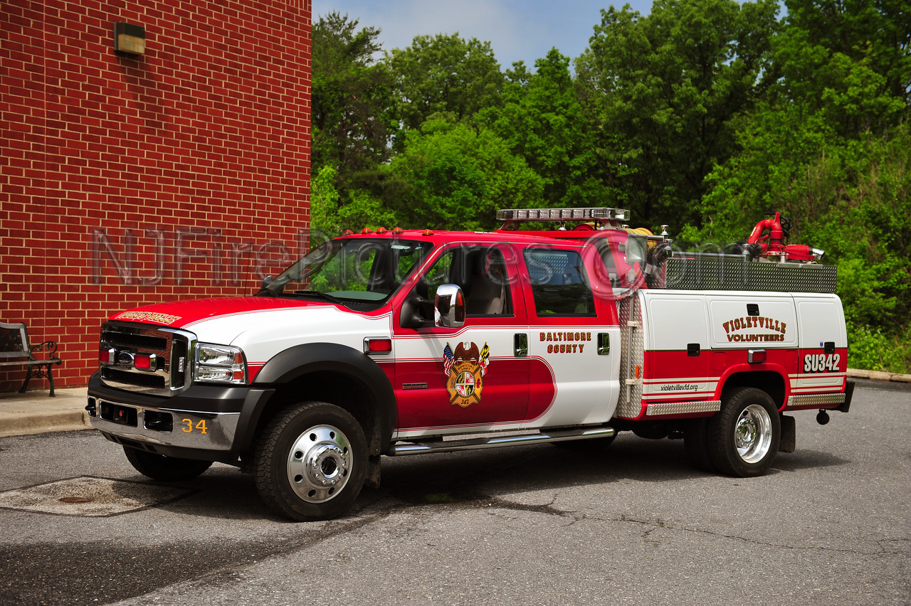 VIOLETVILLE, MD SPECIAL UNIT 342 - 2007 FORD F450/READING 400/225/10