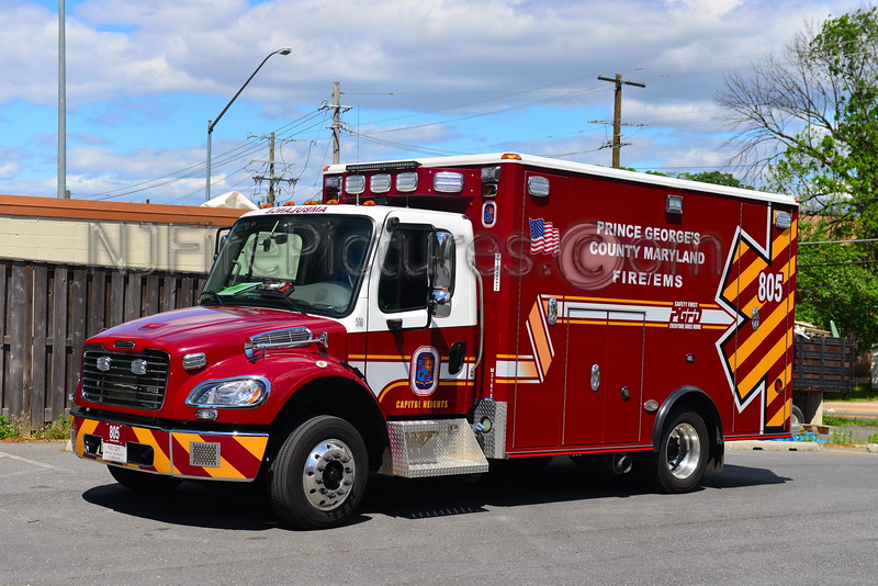 CAPITOL HEIGHTS, MD AMBULANCE 805